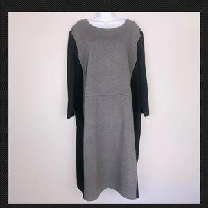 Talbots Dress 24 W Plus 24W Gray Stretch AZ28